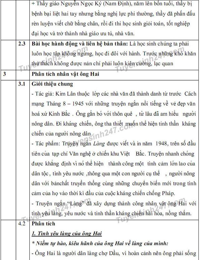 Gợi ý giải đề thi môn Văn vào khối 10 chuyên ĐH Sư phạm Hà Nội - 4