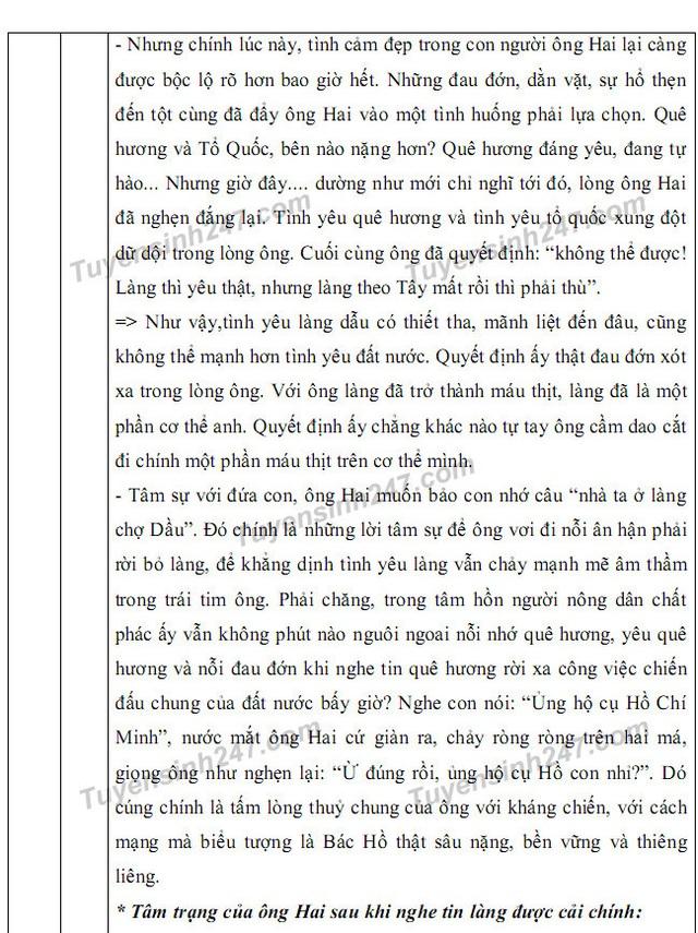Gợi ý giải đề thi môn Văn vào khối 10 chuyên ĐH Sư phạm Hà Nội - 7