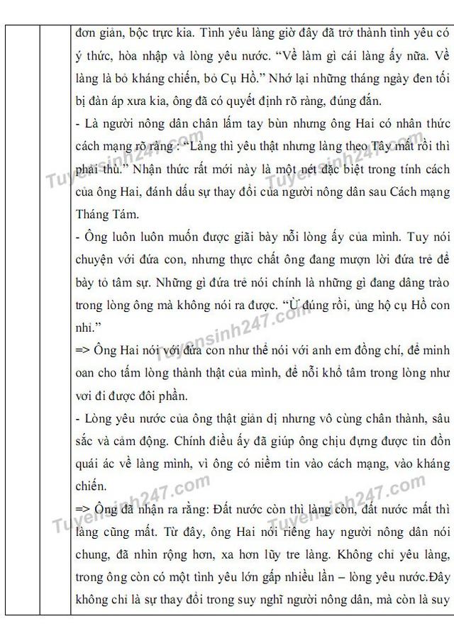 Gợi ý giải đề thi môn Văn vào khối 10 chuyên ĐH Sư phạm Hà Nội - 9