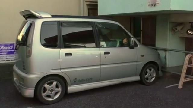 Chiếc xe hơi của nghi phạm. (Ảnh: Sankei)