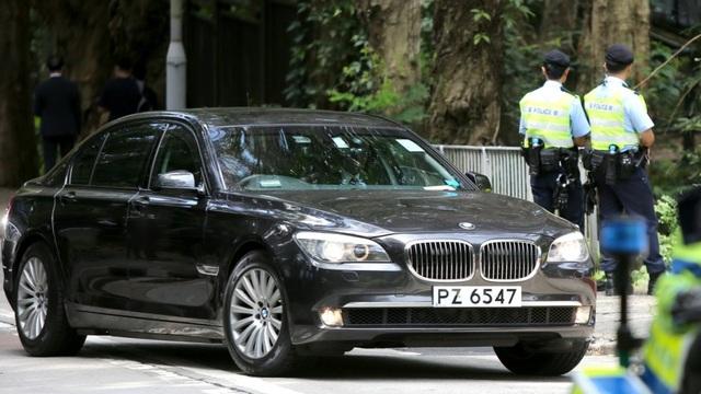 Chiếc xe chở ông Tập trong chuyến thăm Hong Kong được trang bị những tính năng an ninh hàng đầu. (Ảnh: SCMP)