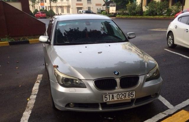 Chiếc xe BMW đang được tạm giữ để điều tra (ảnh CTV)