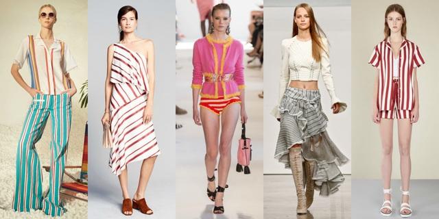 Trang phục kẻ sọc với nhiều biến tấu được nhiều nhãn hiệu nổi tiếng lăng xê tại tuần lễ thời trang New York thu đông 2017. Các bạn gái cần ăn gian chiều cao nên chọn trang phục sọc dọc nhỏ còn sọc ngang hợp với những bạn hơi gầy