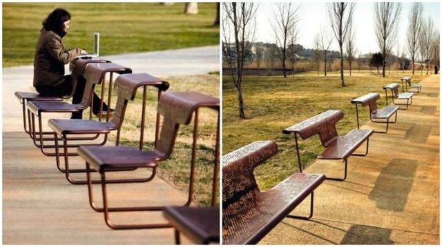 Chỉ với một chút biến tấu trong thiết kế, chiếc ghế này đã có thể được sử dụng như một chiếc bàn.
