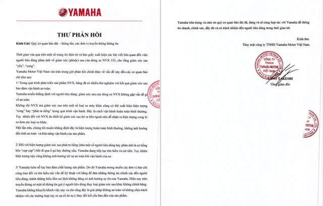Yamaha Việt Nam chưa có câu trả lời thoả đáng - 2