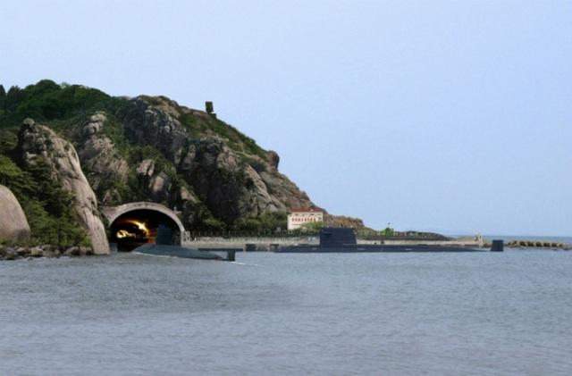 Căn cứ hải quân Yulin (Ảnh: pixnet.net)