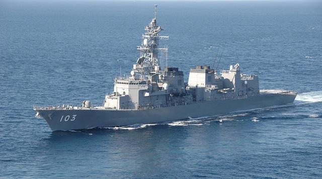 Tàu khu trục Yuudach của Lực lượng phòng vệ biển Nhật Bản (Ảnh: Reuters)
