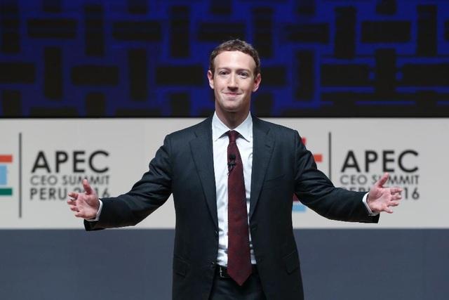 Trong 2 tuần đầu tiên của năm 2017, tổng tài sản của ông chủ Facebook đã tăng thêm 5 tỷ USD.