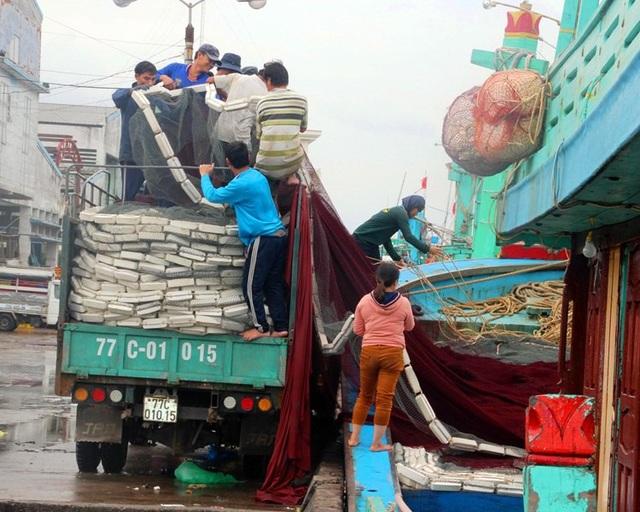 Dù trái vụ đánh bắt thủy sản nhưng do đang được mùa cá nên ngư dân tránh thủ vươn khơi đánh bắt thủy sản.