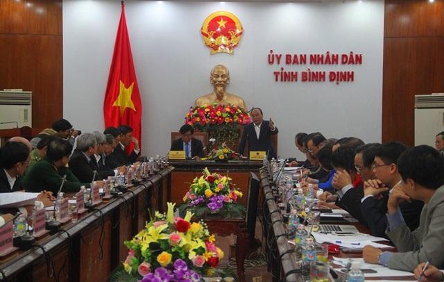 Thủ tướng Nguyễn Xuân Phúc cùng đoàn công tác của Chính phủ làm việc với tỉnh Bình Định chiều 20/1.