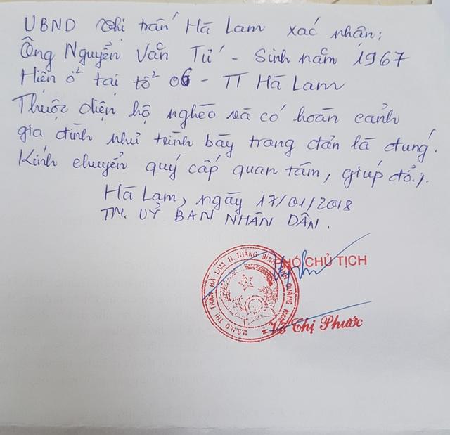 Đơn xin giúp đỡ của Thảo Linh gởi đến Báo Dân trí