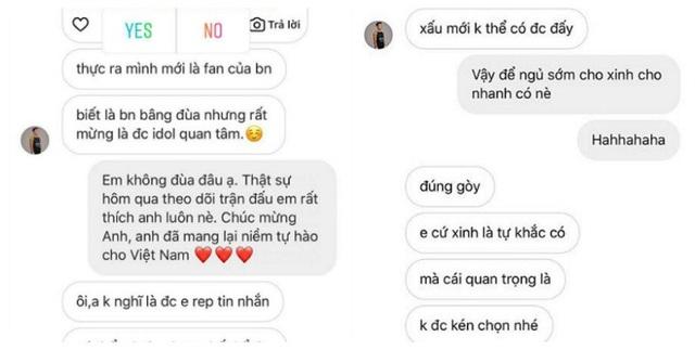 Cuộc trò chuyện qua tin nhắn với Tiến Dũng được Angela Phương Trinh tiết lộ.