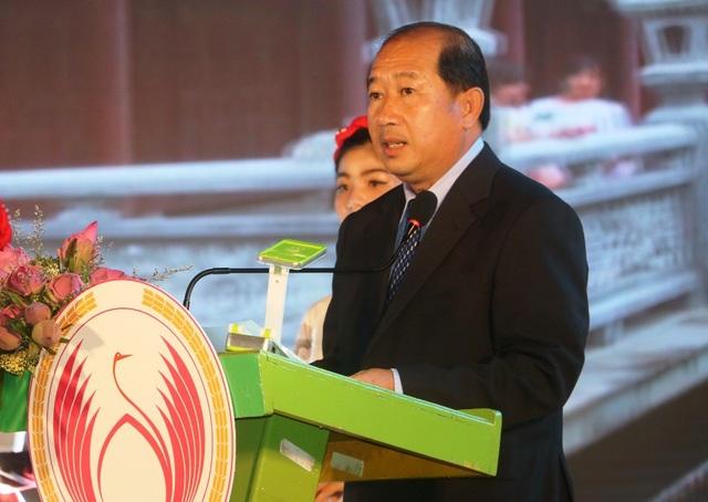 Ông Đoàn Tấn Bửu - Phó Chủ tịch UBND tỉnh Đồng Tháp phát biểu tại buổi khai mạc