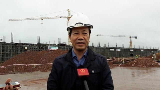 Phó Chủ tịch UBND tỉnh Quảng Ninh Nguyễn Văn Thành tự hào khi sân bay quốc tế Vân Đồn là dự án giao thông duy nhất thu hút được BOT trong lĩnh vực hàng không