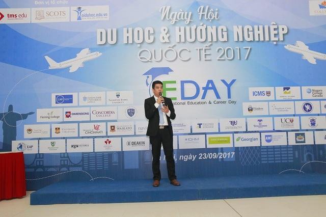 Ông Nguyễn Bá Tưởng - Tổng Giám đốc TMS Education trong Ngày Hội Du học và Hướng nghiệp Quốc tế IEDay