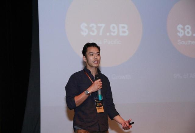 Ảnh startup thuyết trình trong sự kiện - Cường Hà (Founder & CEO Innaway)