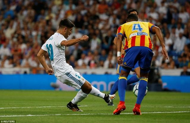 Asensio giúp Real Madrid hòa Valencia 2-2 ở lượt đi La Liga năm nay