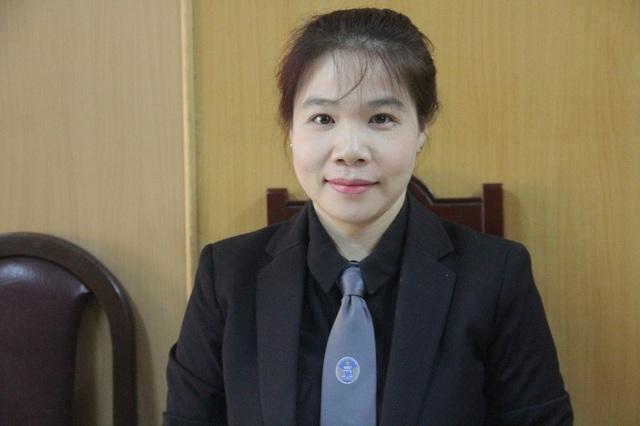 Luật sư Lê Nguyễn Quỳnh Thi, người bào chữa cho bị cáo Hoàng Long Hà