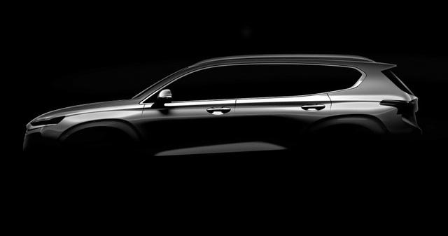 Hyundai công bố hình ảnh đầu tiên về Santa Fe thế hệ mới - 1