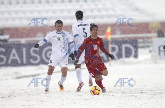 Choáng với mặt sân phủ đầy tuyết ở trận U23 Việt Nam - U23 Uzbekistan - 2