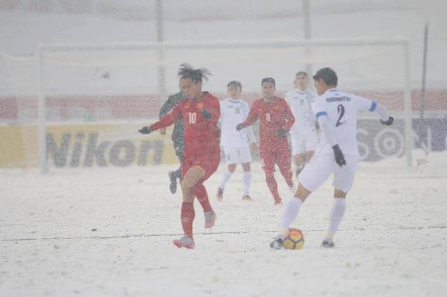 Cầu thủ U23 Việt Nam đã chiến đấu quên mình trước U23 Uzbekistan