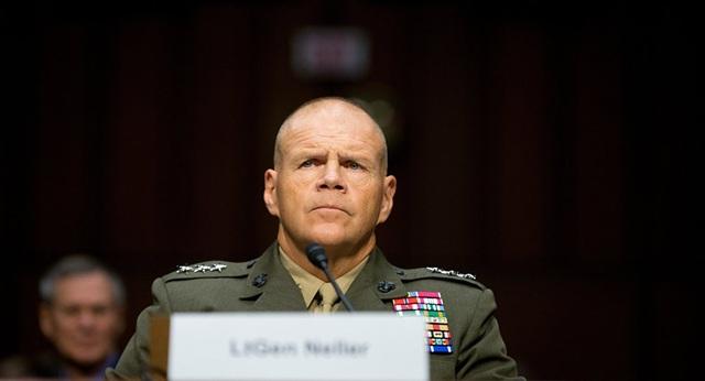 Tư lệnh Thủy quân Lục chiến Mỹ Robert Neller (Ảnh: Sputnik)