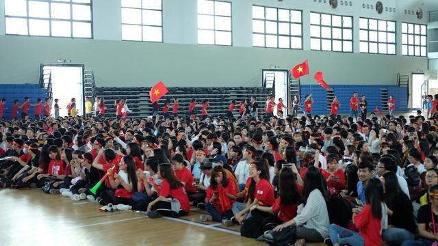 Nhà thi đấu của trường ĐH Tôn Đức Thắng sẽ có hơn 5000 sinh viên xem trực tiếp trận chung kết của U23 Việt Nam