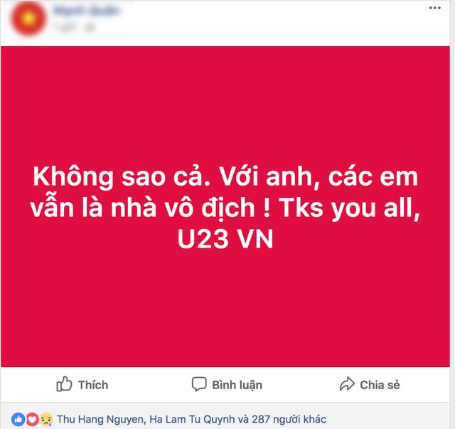 Hàng triệu người dân gửi lời cảm ơn tới các chiến binh U23 Việt Nam.