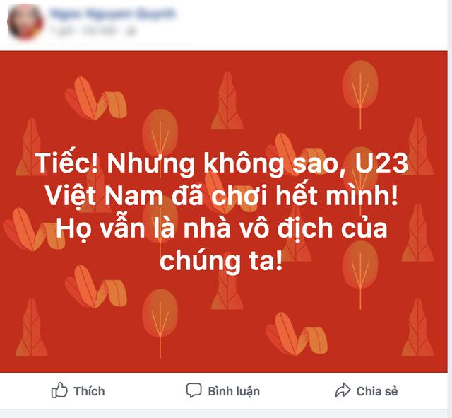 Các em vẫn là nhà vô địch của hơn 90 triệu người dân Việt Nam.