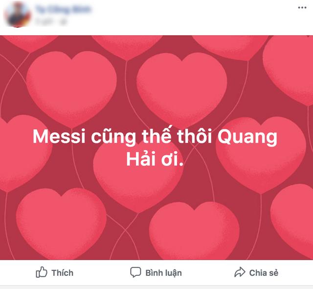 Không ít người đã dành lời khen tặng cho cú cân bằng tỷ số 1-1 của Quang Hải.