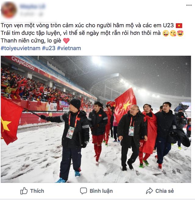 Cảm xúc của người hâm mộ dành cho các em U23.
