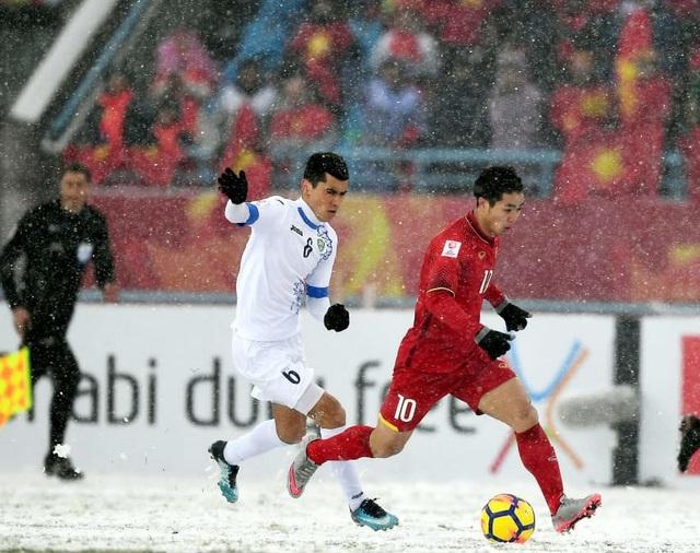 Choáng với mặt sân phủ đầy tuyết ở trận U23 Việt Nam - U23 Uzbekistan - 5