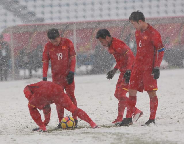 Đây là hình ảnh xúc động của U23 Việt Nam trong trận chung kết
