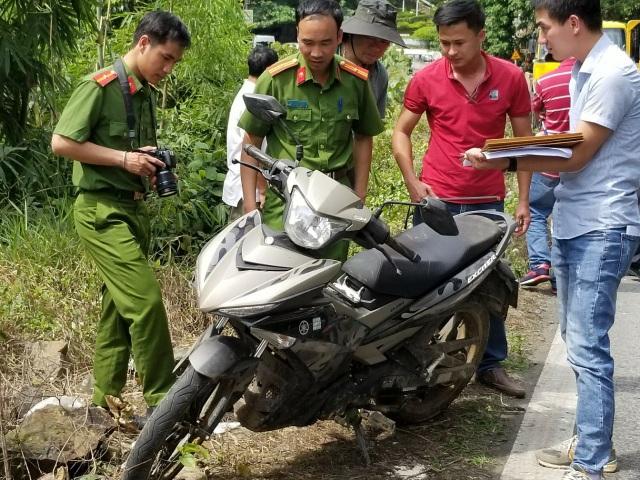 Chiếc xe máy của nạn nhân mà đối tượng Vũ đã phi tang xuống đèo Bảo Lộc