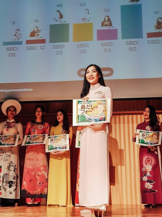 """Huyền Trang đạt danh hiệu Thí sinh được yêu thích nhất trong cuộc thi """"Hoa khôi du học sinh Việt tại Nhật 2017""""."""