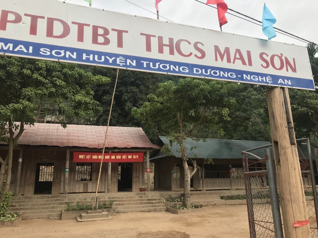 Trường PTDTBT THCS Mai Sơn - nơi có hơn 250 học sinh.