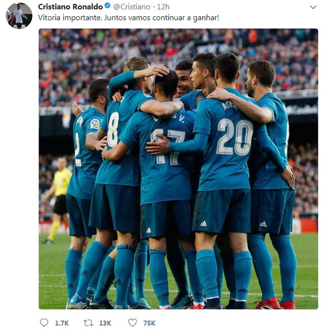 Một bài đăng của Ronaldo trên trang cá nhân cũng chỉ thu hút cùng lắm vài trăm ngàn lượt thích.