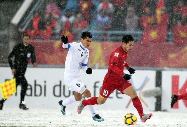 U23 Việt Nam thể hiện tinh thần chiến đấu tuyệt vời giữa mưa tuyết
