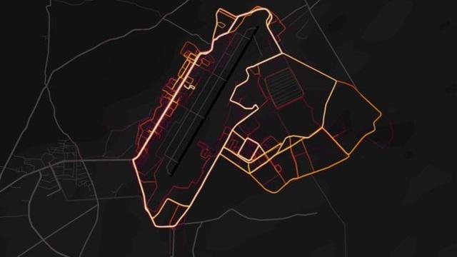 Hình ảnh căn cứ quân sự Mỹ ở Afghanistan vô tình bị lộ do bản đồ nhiệt trên ứng dụng tập thể dục (Ảnh: Strava)