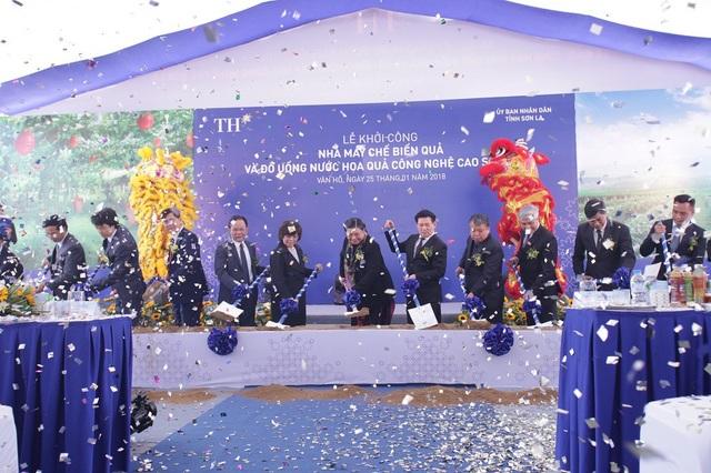 Lễ Khởi công nhà máy chế biến quả và nước hoa quả Sơn La của tập đoàn TH có tổng vốn đầu tư 1.200 tỷ đồng, giai đoạn 1 đầu tư 300 tỷ đồng