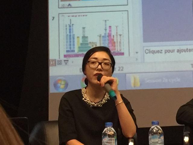 Diễn giả Quản Thùy Dương - cựu sinh viên đại học Paris Sud và Institut Golden Collar, Pháp.