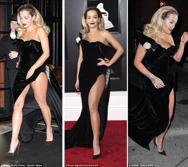 Rita sải bước rất cẩn trọng để tránh mọi sự cố với trang phục.