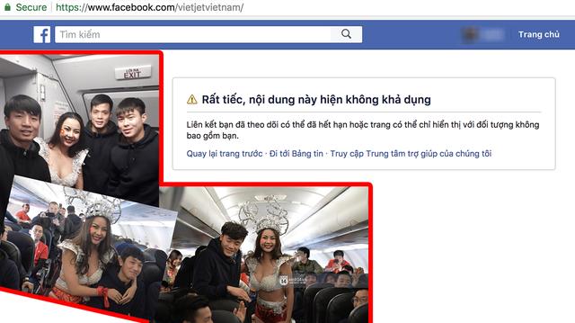 Fanpage chính thức Vietjet Air tạm ngừng hoạt động