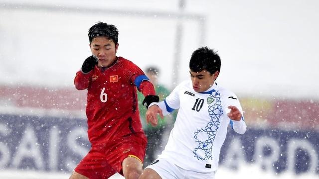 Xuân Trường (trái) là đội trưởng của U23 Việt Nam tại U23 châu Á