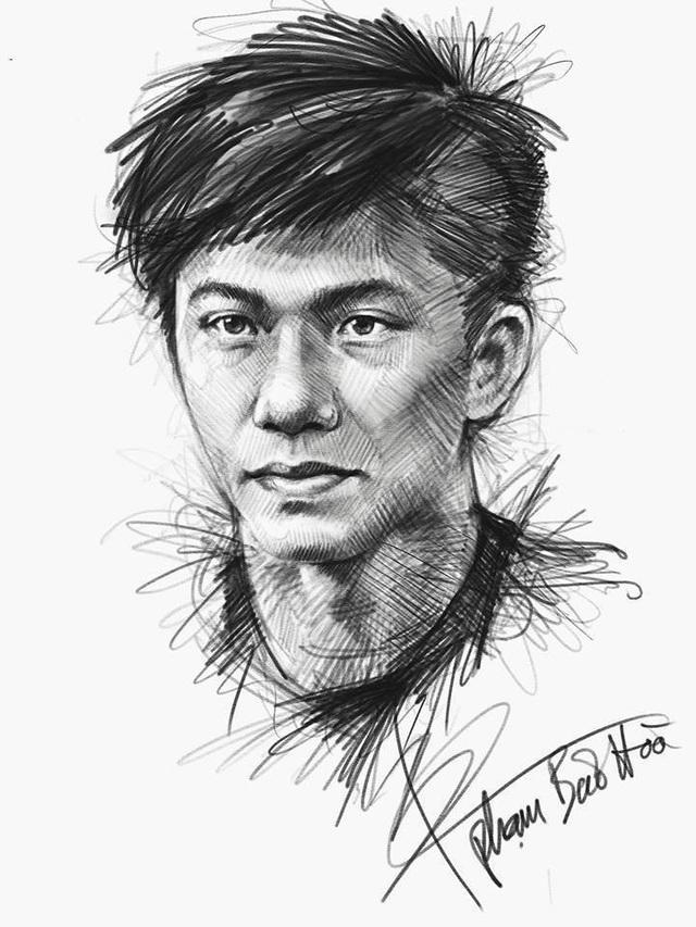 """Ngắm bộ ký họa dàn tuyển thủ U23 Việt Nam cực """"chất"""" - 5"""