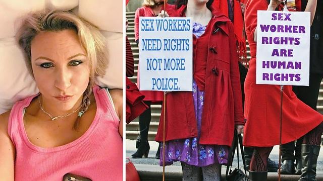 Charlotte Rose thường đăng những bức ảnh kêu gọi quyền lợi cho gái mại dâm (Ảnh: Charlotte Rose)