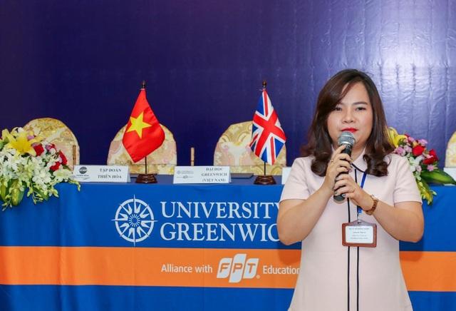 Bà Vũ Đỗ Hồng Ngọc - Giám đốc Nhân sự Công ty CP Cảng Quốc tế Long An cho biết bà nhận thấy đặc điểm nổi trội nhất của sinh viên Đại học Greenwich (Việt Nam) trong những kỳ thực tập tại công ty mình là sự bùng nổ và tác phong tốt. Bà cũng rất cảm kích cơ hội hợp tác này để công ty gắn kết hơn với sinh viên là những hạt giống nhân sự trong tương lai.