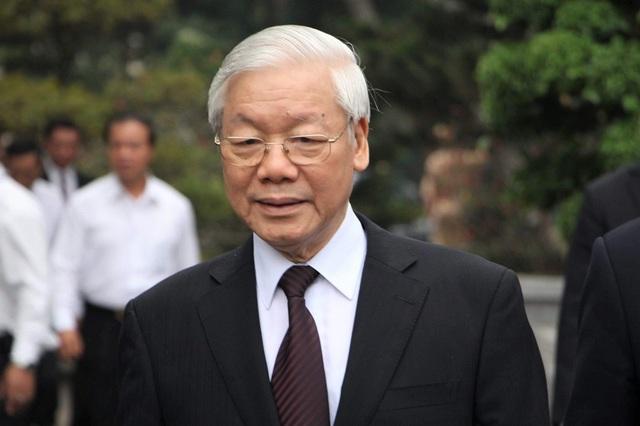 Tổng Bí thư Nguyễn Phú Trọng đến tham dự lễ kỷ niệm