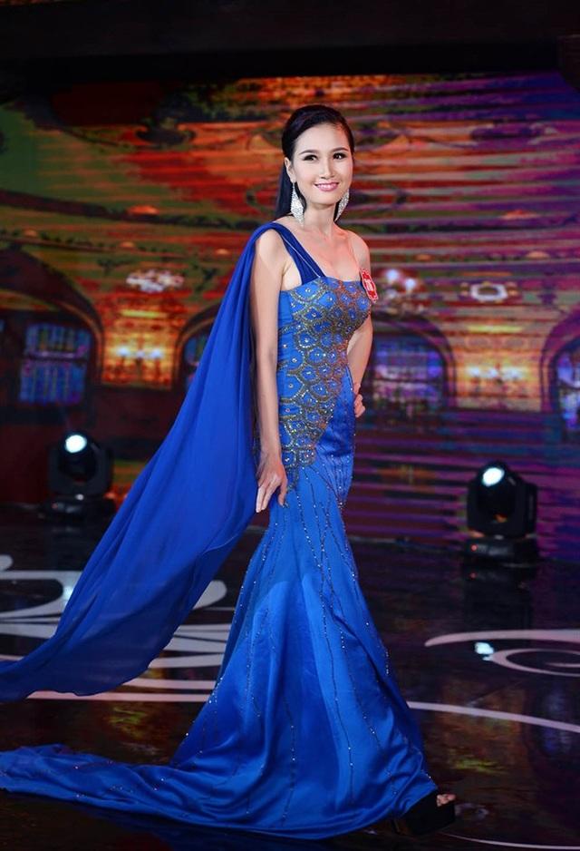 Hình ảnh của Nguyễn Thị Hà trong cuộc thi Hoa hậu Việt Nam 2014.