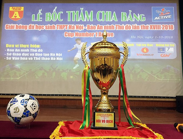 Tăng gấp đôi tiền thưởng tại giải bóng đá học sinh THPT Hà Nội 2018 - 1